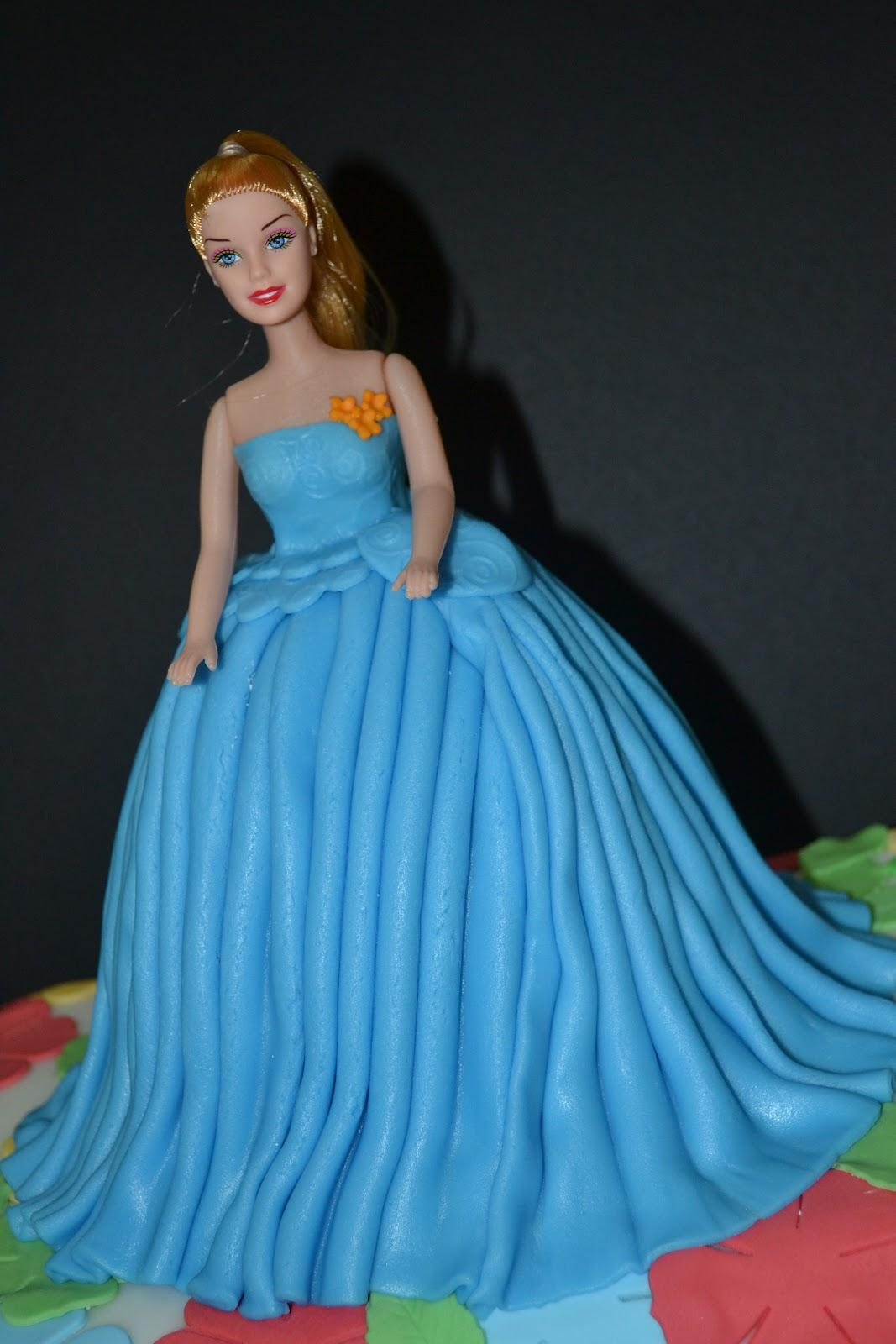 Cakes, Cakes N more: Barbie in blue.... Khavinaa\'s 1st birthday
