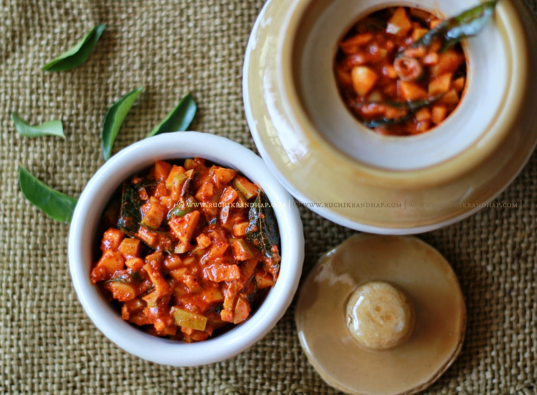 Kosrache Lonche Shredded Raw Mango Pickle Mangalorean Catholic Style  Homemade Pickle Prep Time: 3 Days