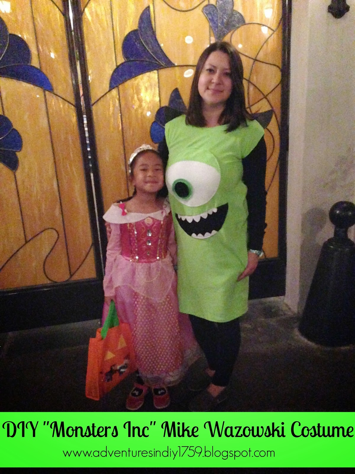 "adventures in diy: diy ""monsters inc"" mike wazowski costume"