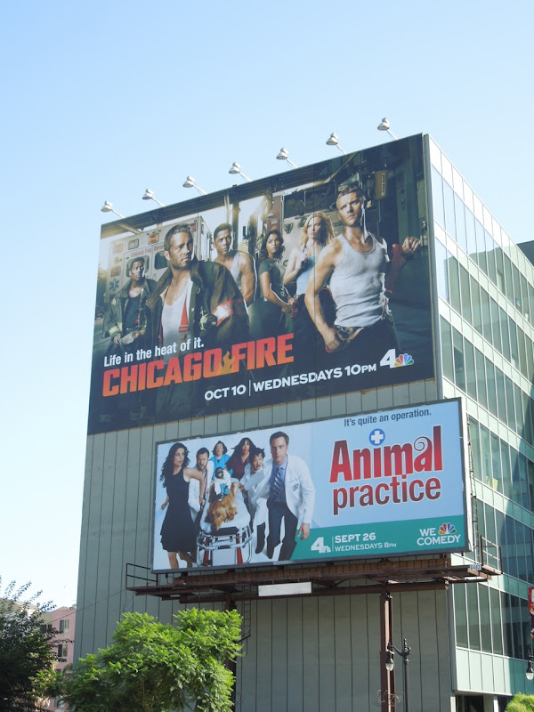 Giant Chicago Fire series premiere billboard
