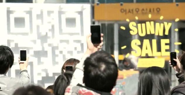 En Sur Corea las personas utiliza el codigo QR de Emart puesto en maquetas en toda la ciudad para comprar en horas de almuerzo