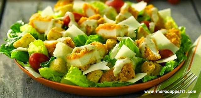 Salade Cesar au poulet | Caesar salad with chicken
