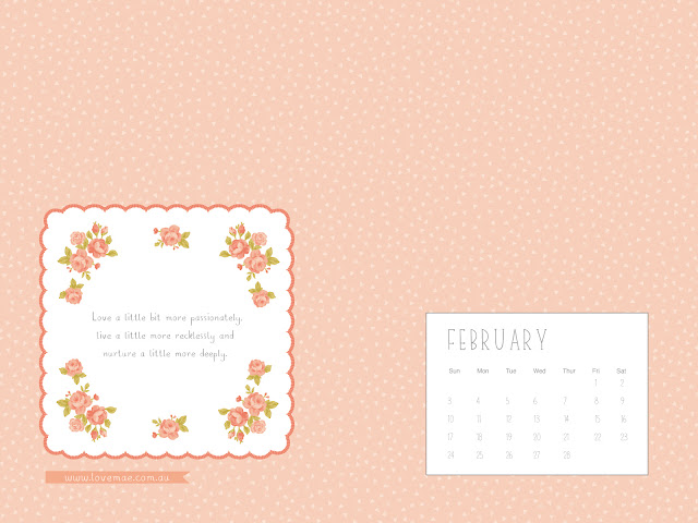 Calendar Wallpaper Love Mae : Maize hutton love mae desktop calendar