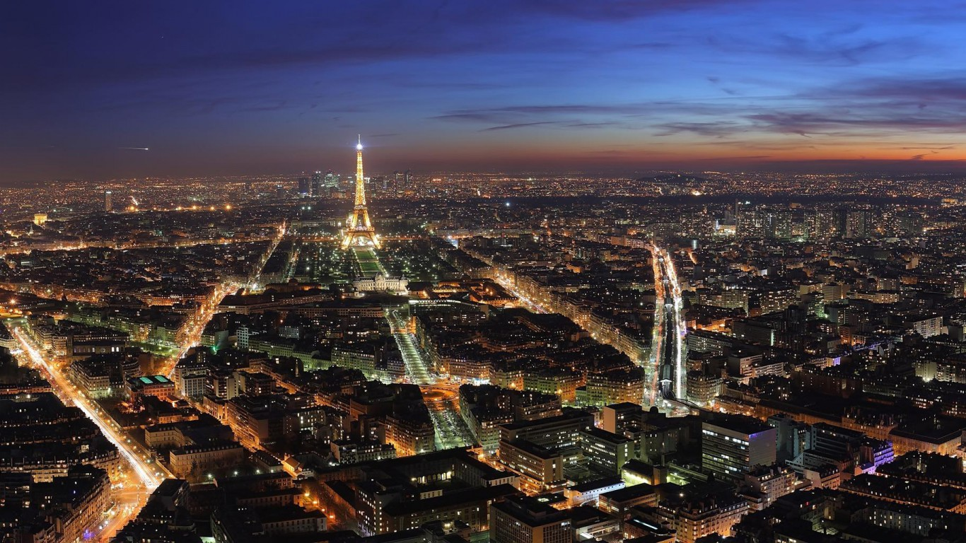 paris: paris at night wallpaper