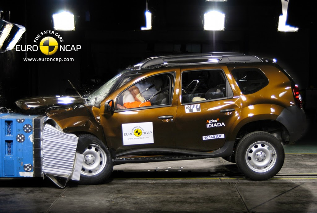 renault duster crash test safety