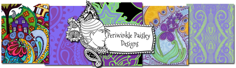 Periwinkle Paisley Designs by Jennifer L. Addotta