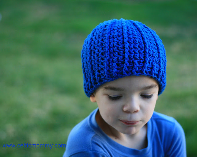 Crochet Beanie Pattern For Child : CelticMommy: Free crochet pattern: Rib wrapped cap for ...