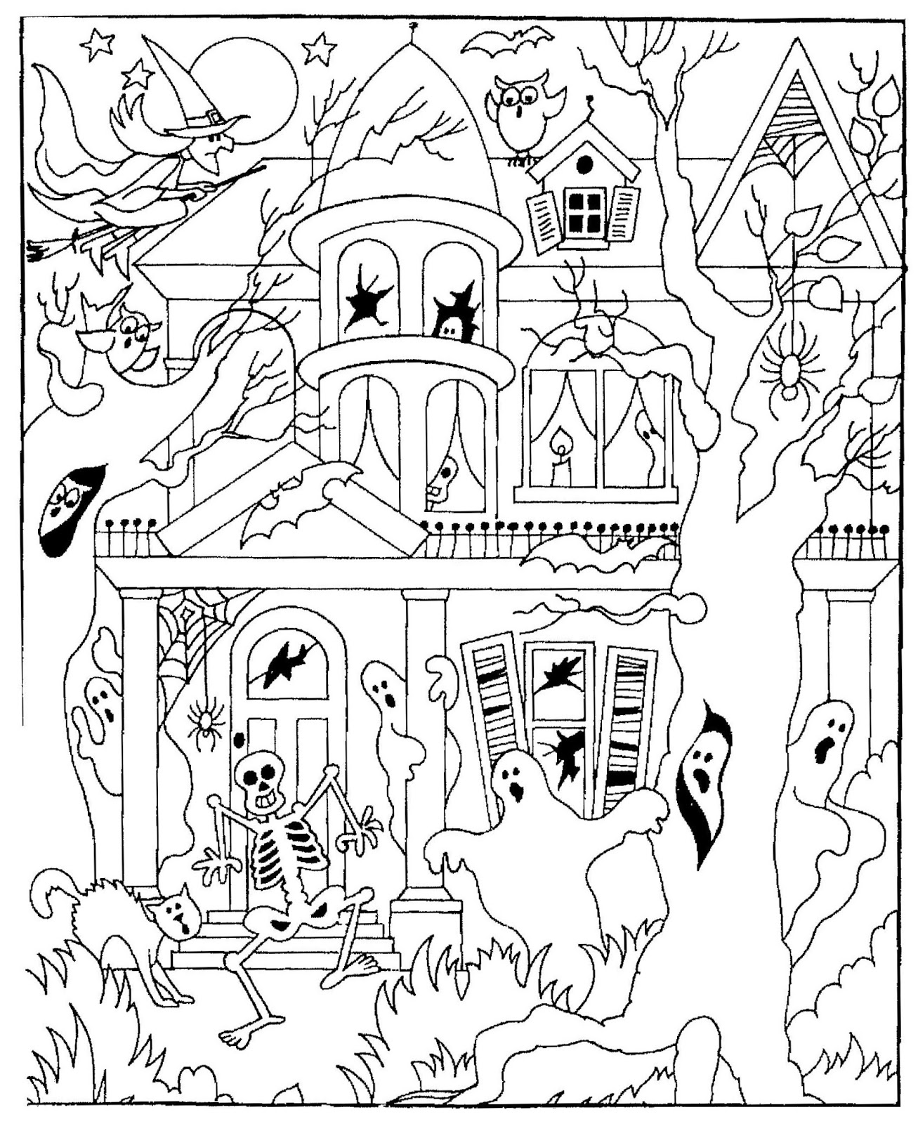 something to color for halloween - Halloween Coloring Contest 3