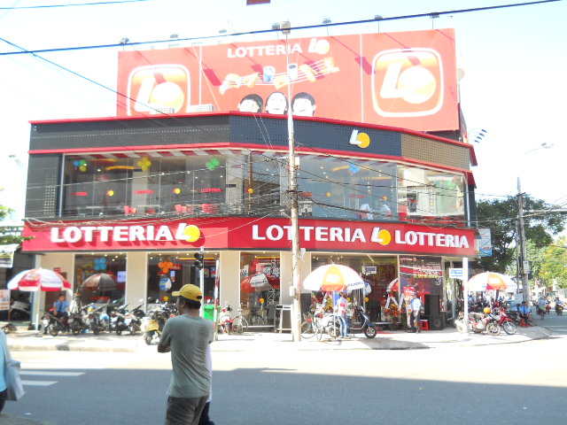 Lotteria Vietnam,a Korean fast food restaurant chain located at the ...