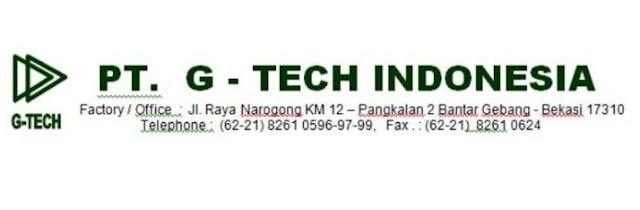 Lowongan Kerja Driver PT G-Tech Indonesia Bantar Gebang Bekasi