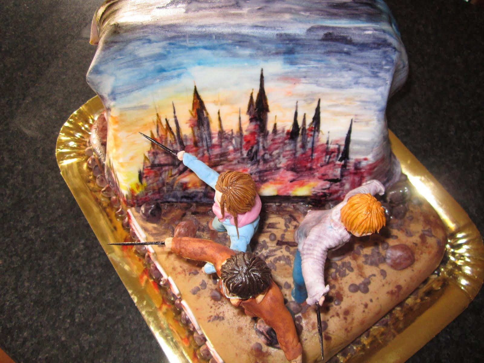 il paradiso delle torte la torta di harry potter e dei. Black Bedroom Furniture Sets. Home Design Ideas