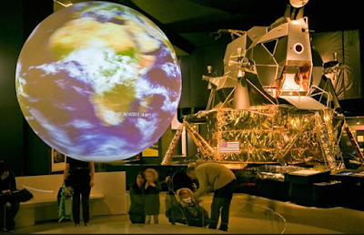 Visitors enjoy exploring the universe in science museum