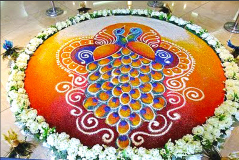 Tags Unique Rangoli Designs Pea Pookalam Rangoli Images Onam Pics