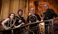 Les Chevaliers de Saint Hubert: Anneke Scott, Joseph Walters, Jorge Renteria-Campos and Martin Lawrence.