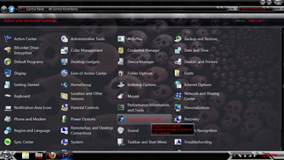 TEMA WINDOWS 7 SKULL V3 [CHROME SKULL EDITION] GLASS