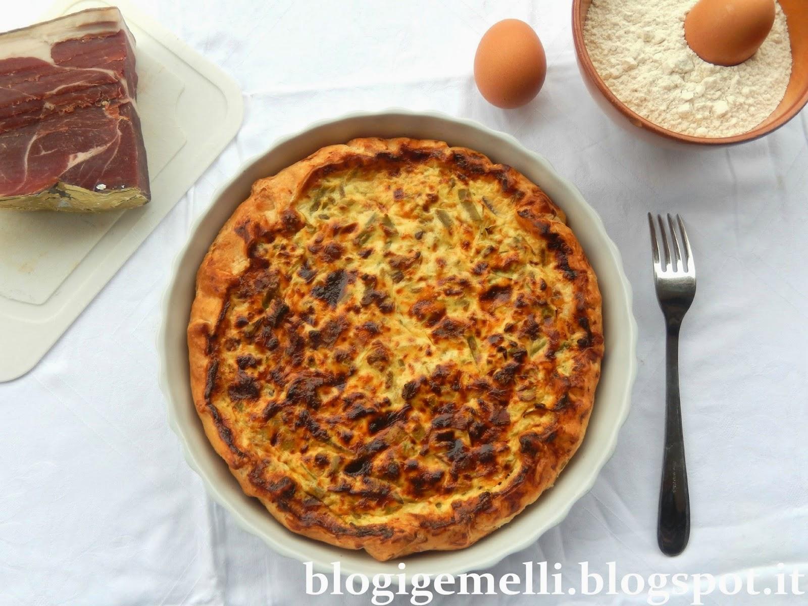Igemelli torta salata con speck e fagiolini for Aspetto rustico