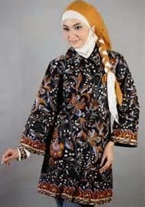 Desain Baju Batik Muslimah Terbaru 2016