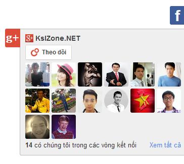 Google+ Follower ẩn hiện bằng CSS3