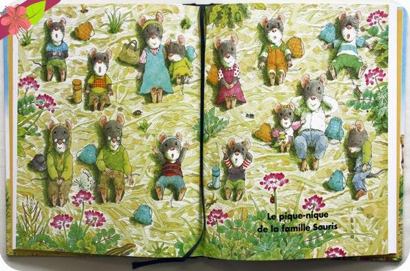 """""""Les 4 saisons de la famille Souris"""" de Kazuo Iwamura"""