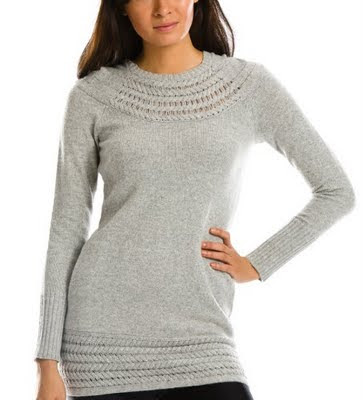 A Sweet Cable Trim Sweater