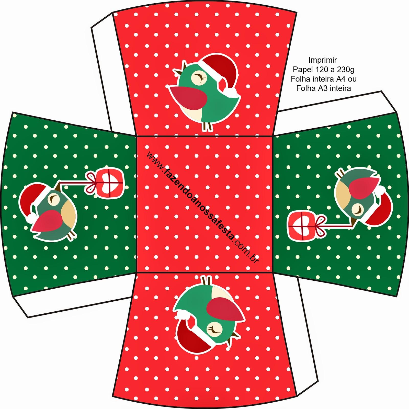 Pajaritos de navidad cajas para imprimir gratis ideas - Cajas de carton de navidad ...