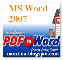 Chuyển file Word thành PDF với MS Word 2007