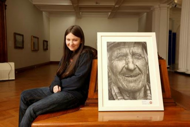 A 16 Year Old Girl, Armed With A Pencil, Entered A Competition. The Result Blew My Mind. - She drew Coleman by hand, using only pencil. - Share this incredible work of art with others!