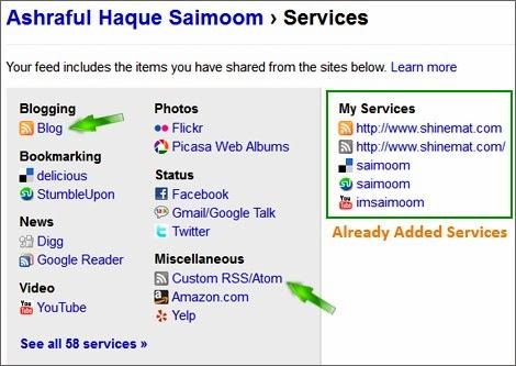 full friendfeed service list