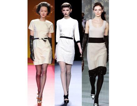 black white affair suit gown