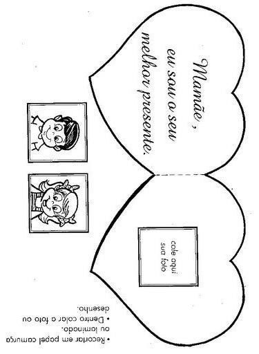 Educação Infantil Betim Cartão Para O Dia Das Mães
