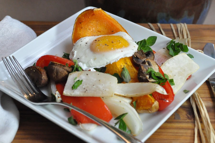 Stealth Cooking: Roast Veggies with Poached Egg