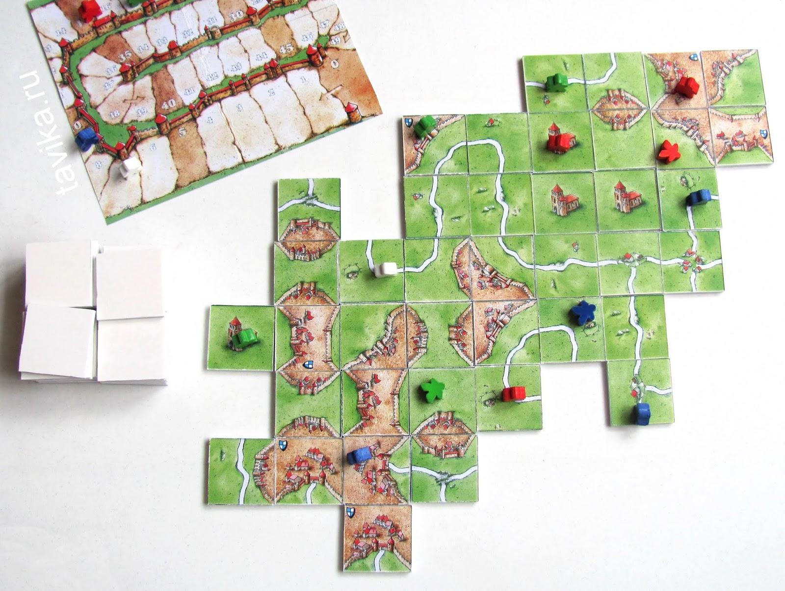Настольная игра Каркассон. Средневековье своими руками