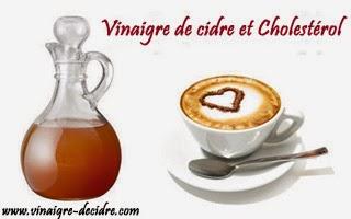 Vinaigre de cidre et cholestérol