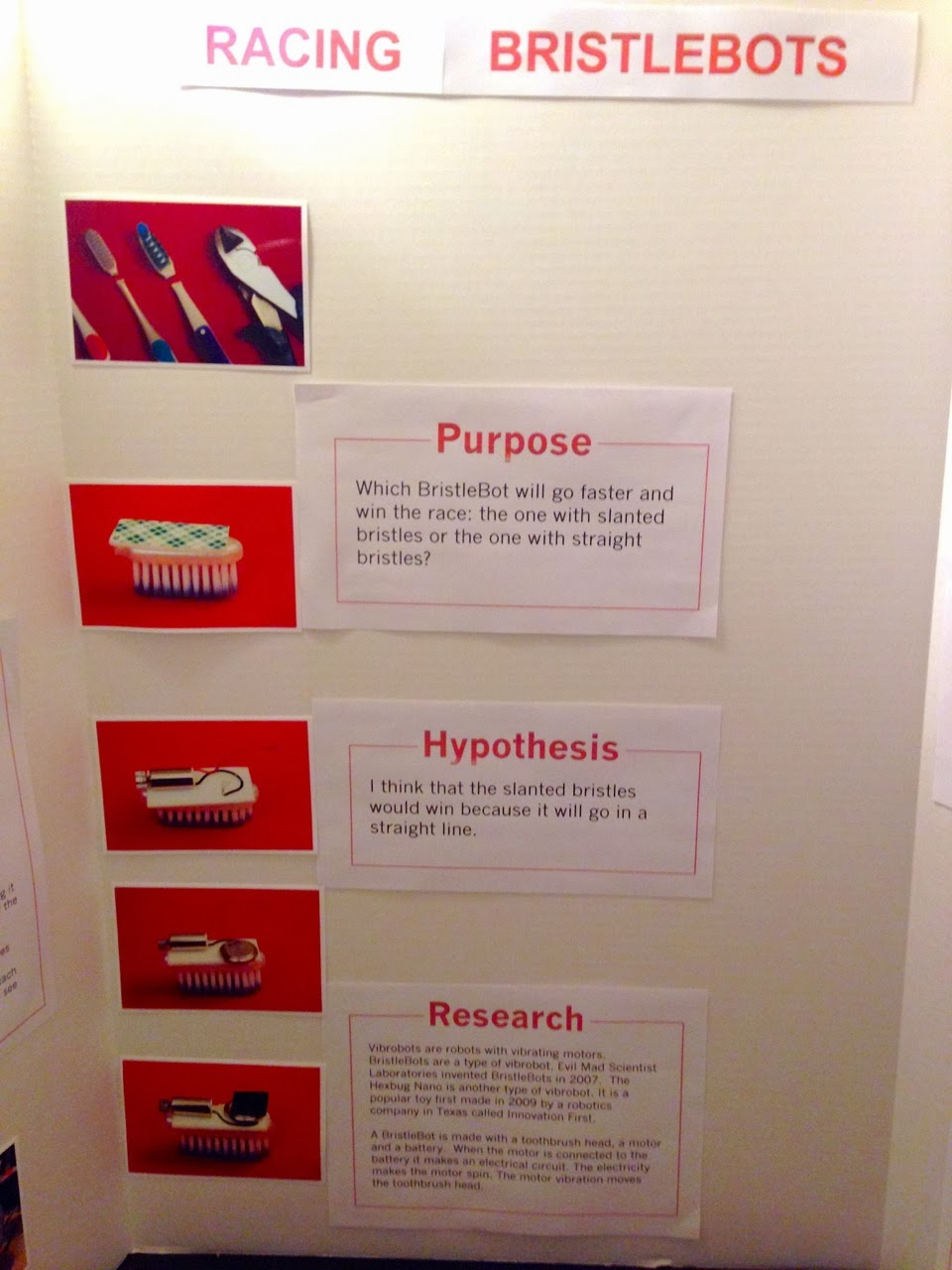 research paper display board