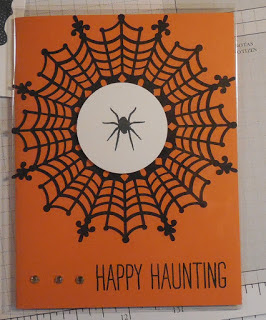 Halloween Card made with Stampin'UP! Spider Web Doilies