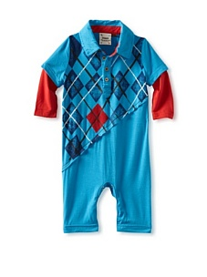 MyHabit: Save Up to 60% off Fore!! Axel + Hudson: Long Sleeve Slash Argyle - Stretchy jersey knit polo romper with an asymmetrical argyle pattern and contrast underlayer with long sleeves, snap closure