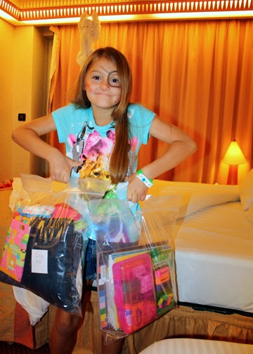 For Tessa's Global Action service project, we donated school supplies and some of Tessa's new and gently used clothes to children in Costa Maya.