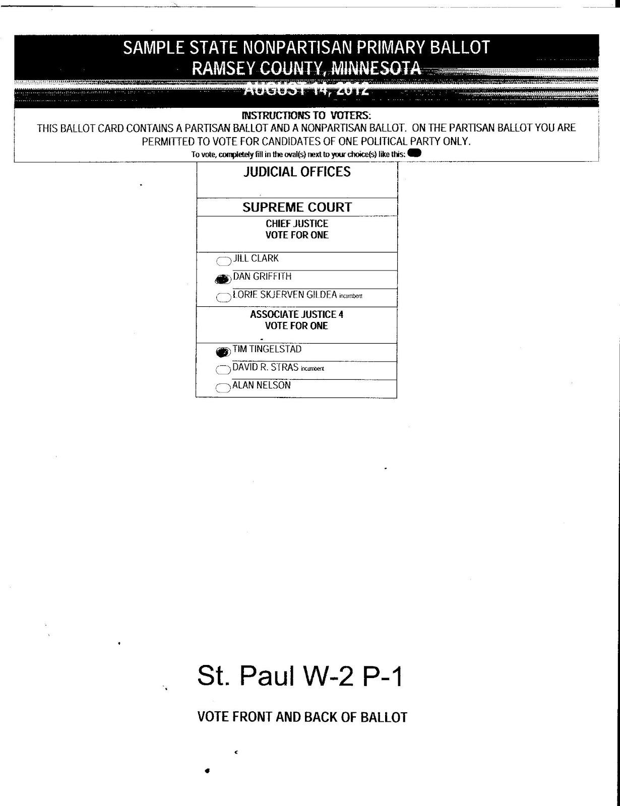 Judicial BallotMNAugPrimary