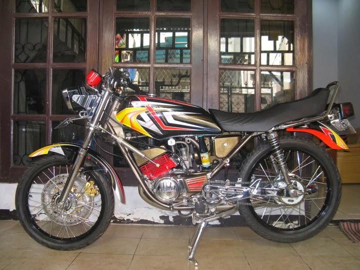 gambar modifikasi motor yamaha rx king terbaru 2014 title=