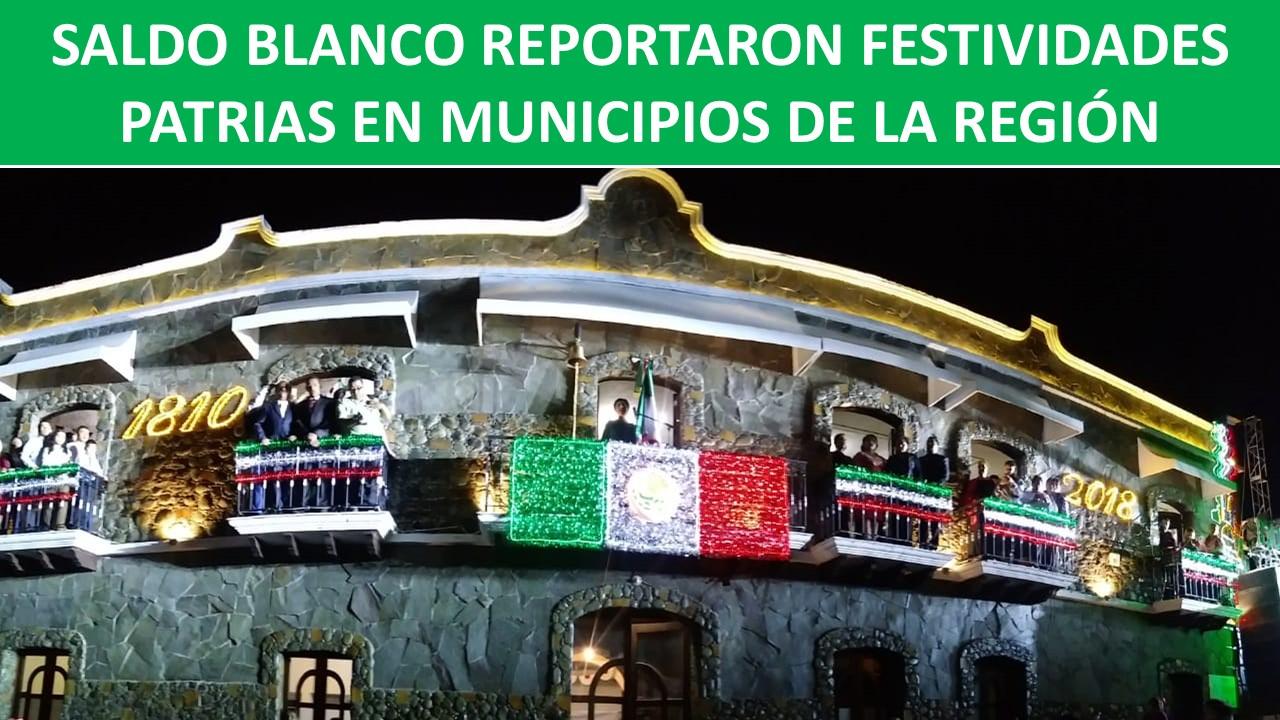 FESTIVIDADES PATRIAS EN MUNICIPIOS DE LA REGIÓN