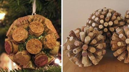 Adornos para el arbol de navidad con corchos - Adornos navidenos para el arbol ...