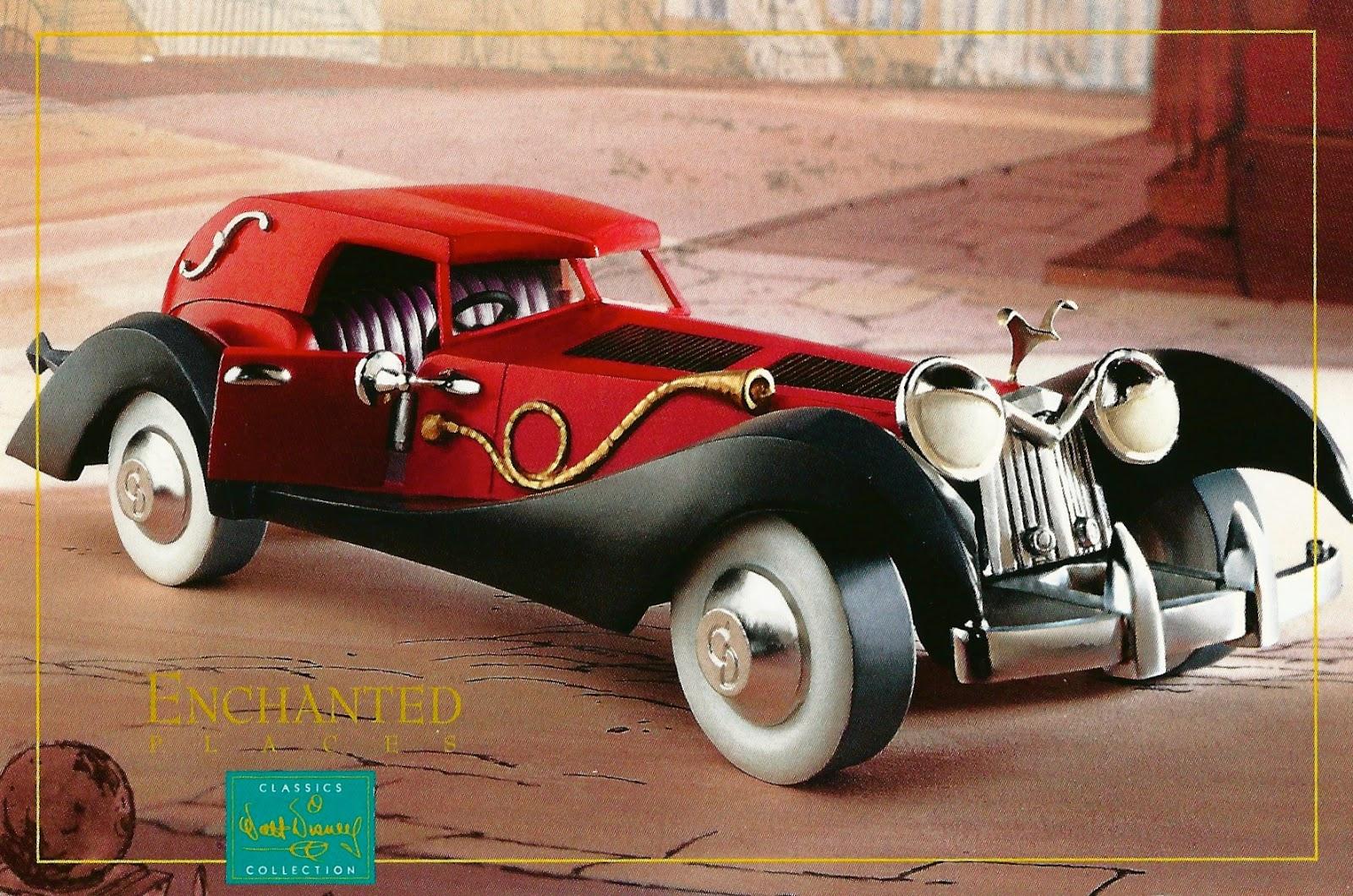 My Favorite Disney Postcards: Cruella DeVil's Car