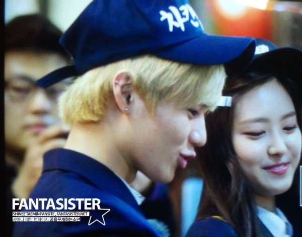 Taemin and Na Eun filming We Got Married 130430_ 3