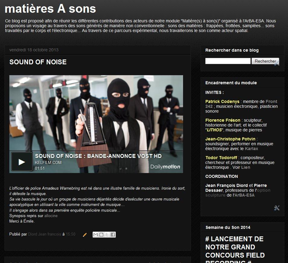 Matières à Sons