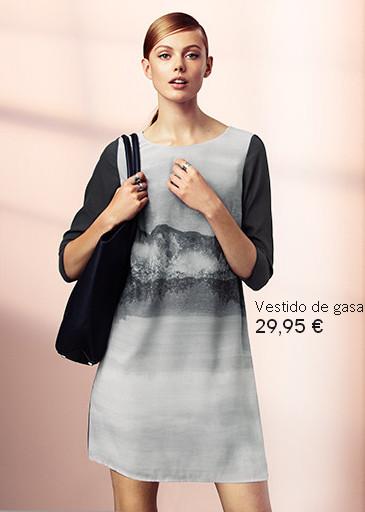 vestido de gasa H&M otoño 2013