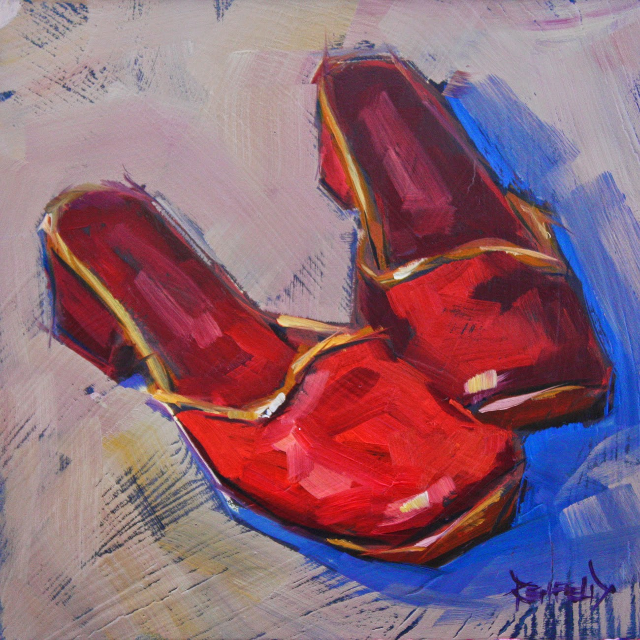 cathleen rehfeld • Daily Painting: Shoe Fiend! #2 Red Shoes