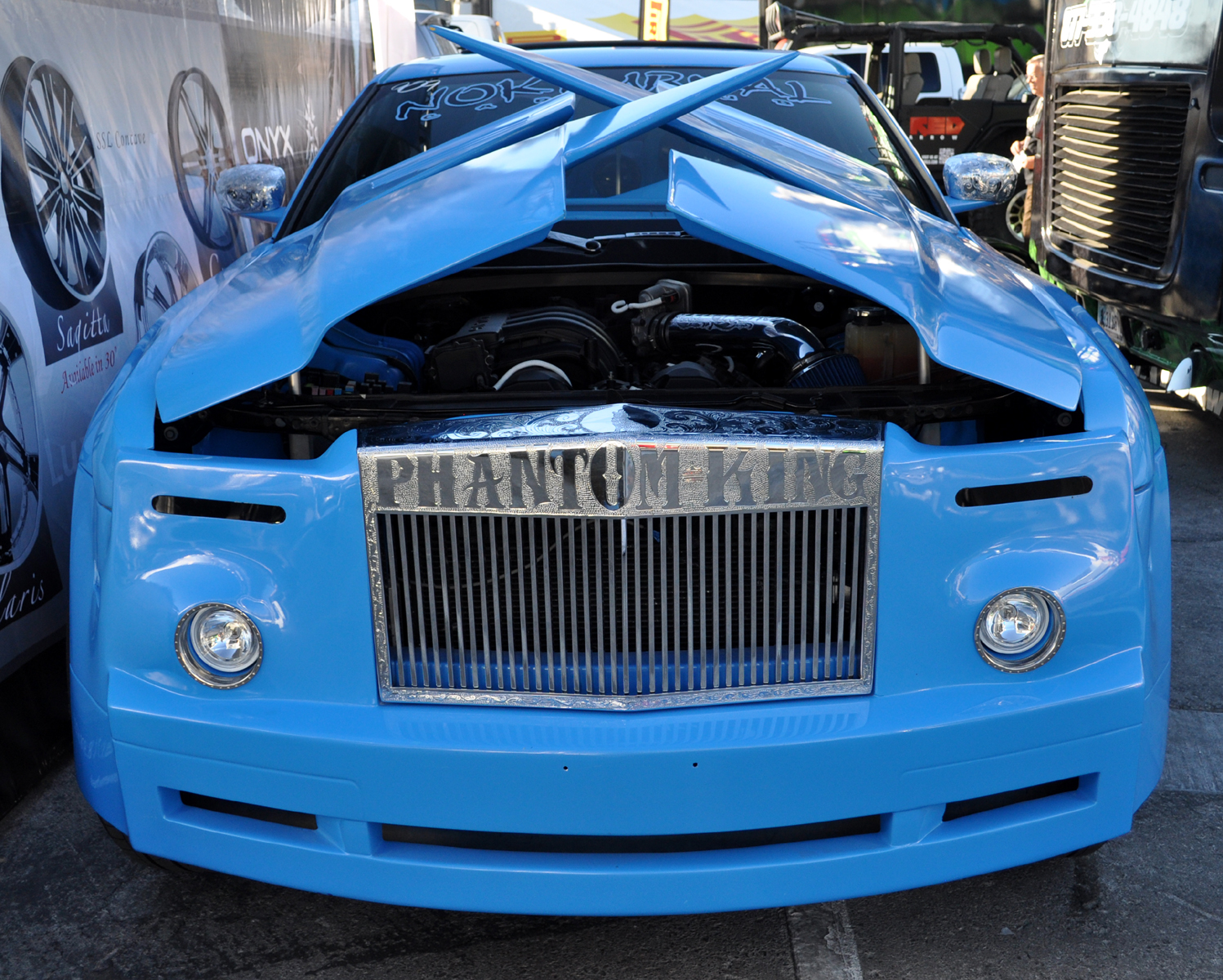 Most Unusual Chrysler 300 Made To Look Like A Rolls Royce Remade For Rap Star Cruising