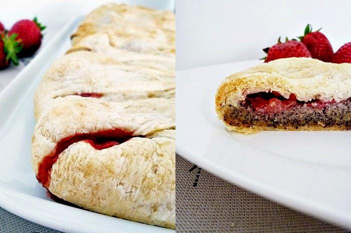 Erdbeer-Mohn Strudel