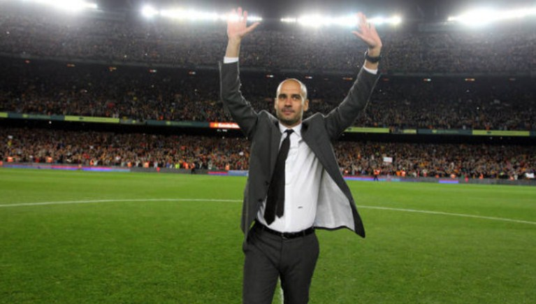 Josep Pep Guardiola coached official Manchester City
