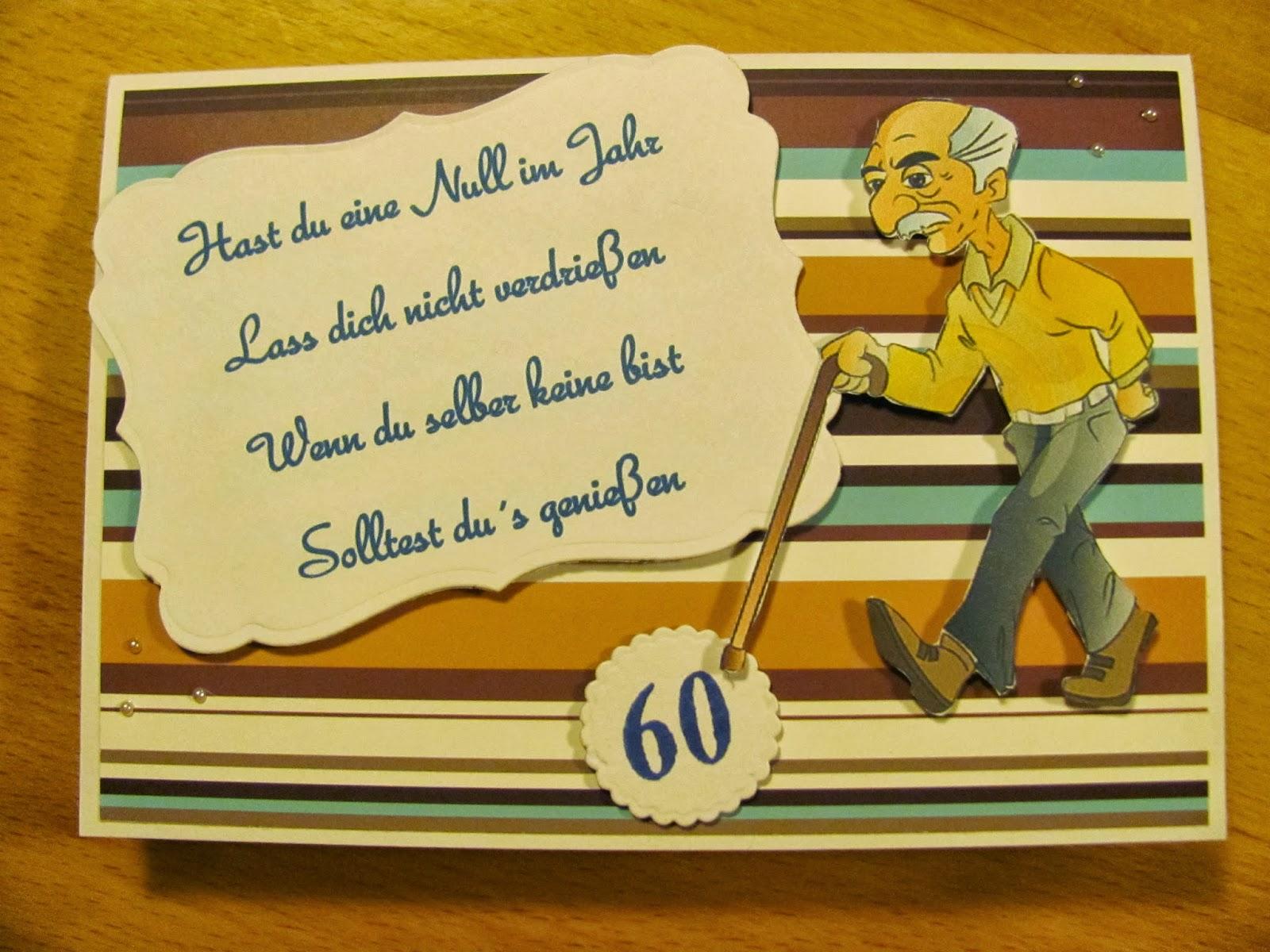 Jacky`s Stempelraum: Zum 60. Geburtstag